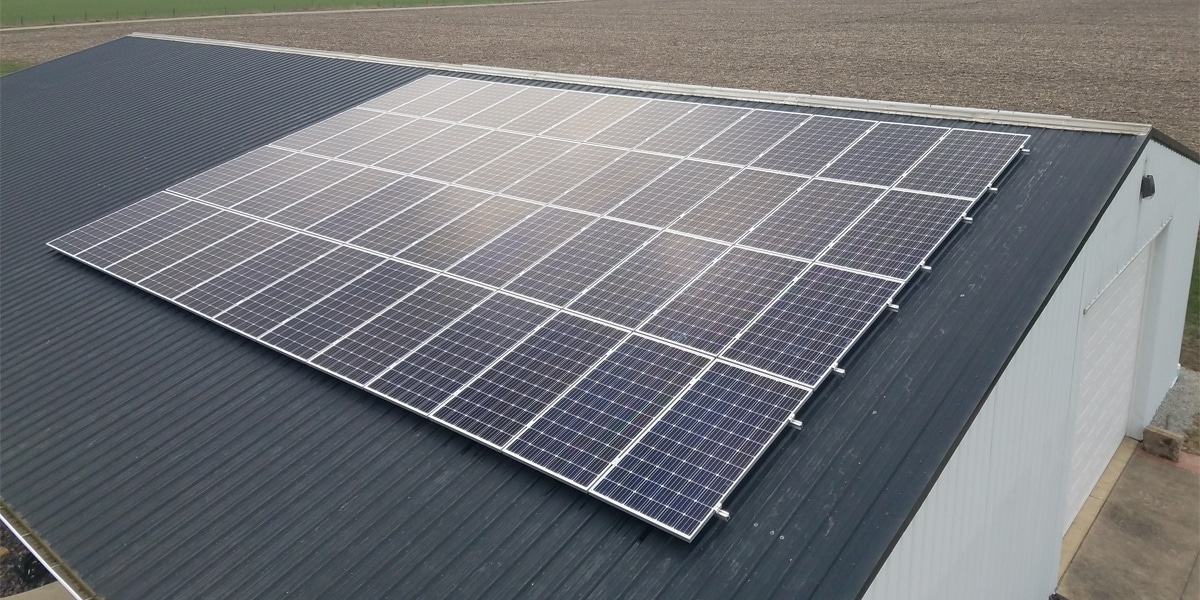 Residential Roof Mounted Solar Panels In Dieterich Il