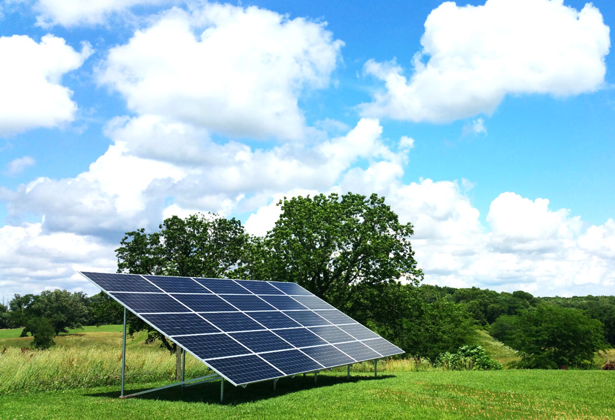 Ground Mounted Solar System For Home Near Pana Il Tick